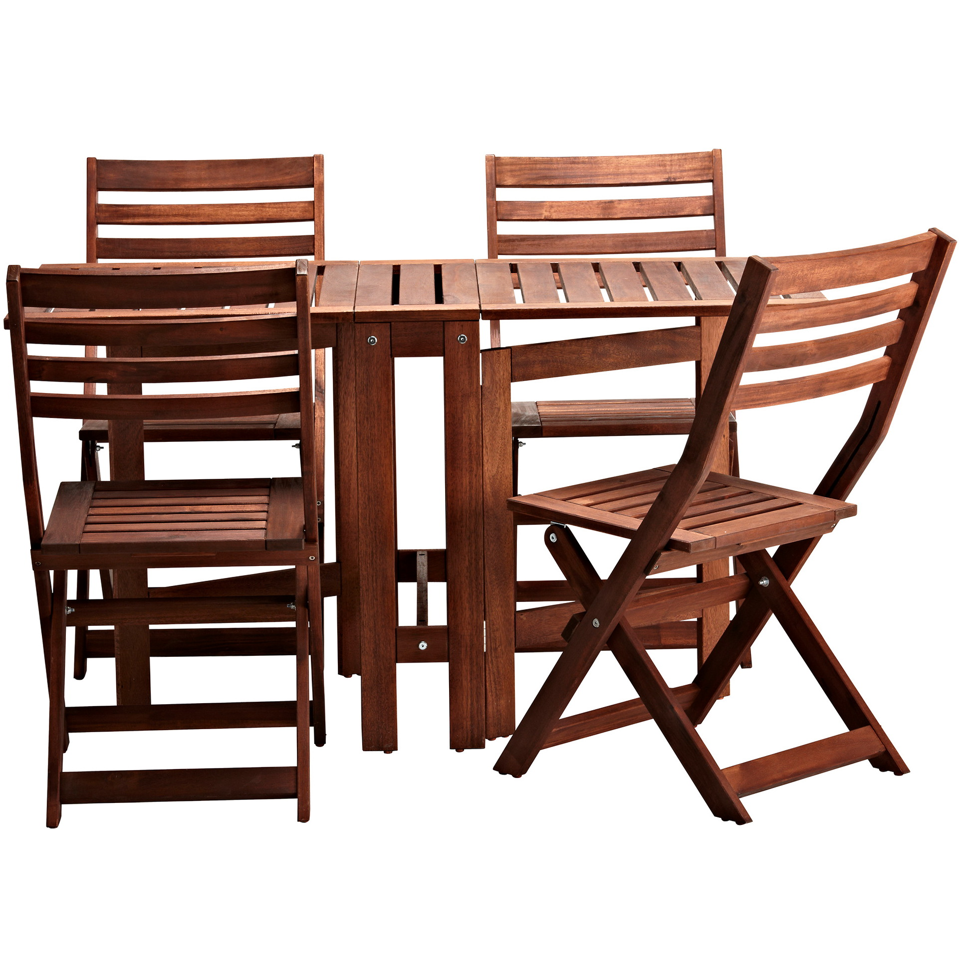 Wood Folding Table And Chairs