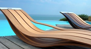 Wooden Pool Lounge Chairs