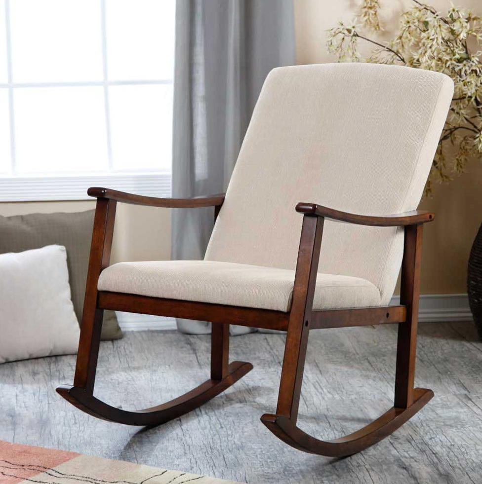 Wooden Rocking Chairs With Cushions
