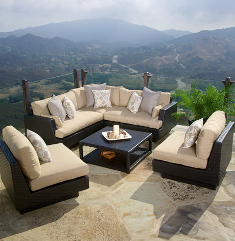 Rushreed 3 Piece Outdoor Sectional Sofa Set Sofa 9390 Home