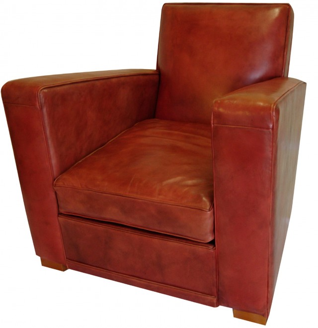 Art Deco Leather Club Chairs