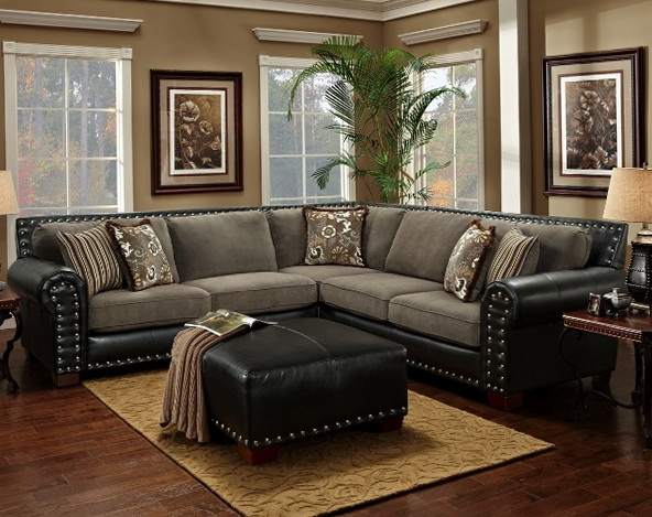 Black And Gray Sectional Sofa