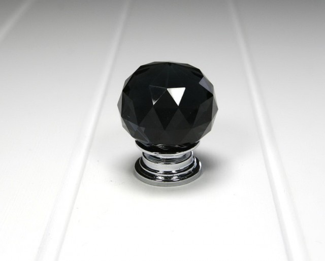 Black Crystal Door Knobs