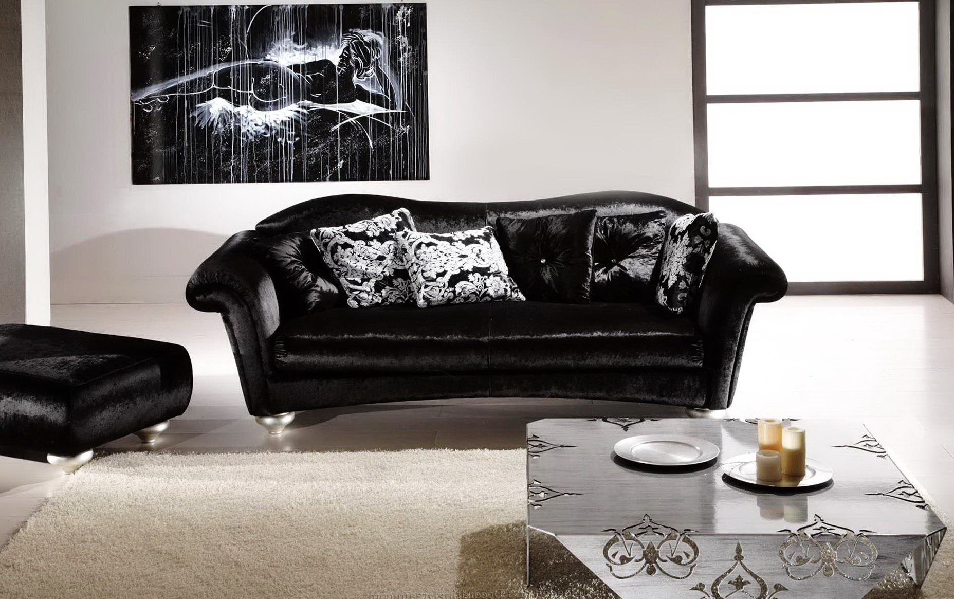 Black Leather Sofa Decorating Ideas