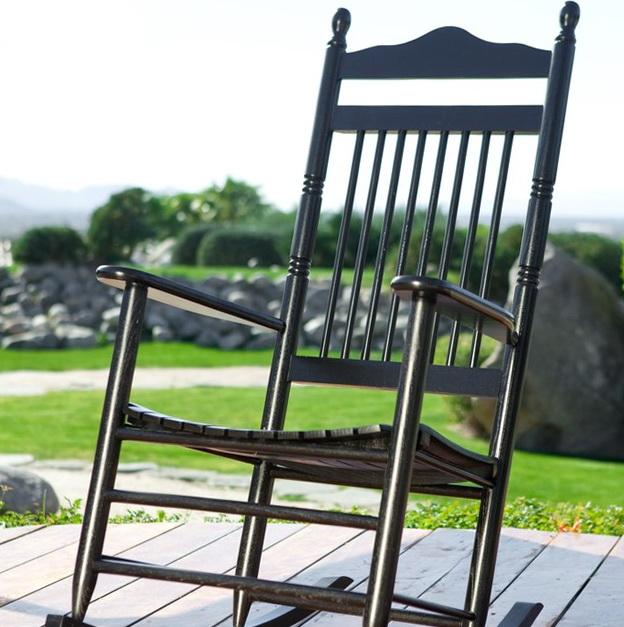 Black Porch Rocking Chairs