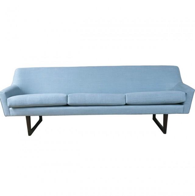 Blue Mid Century Modern Sofa