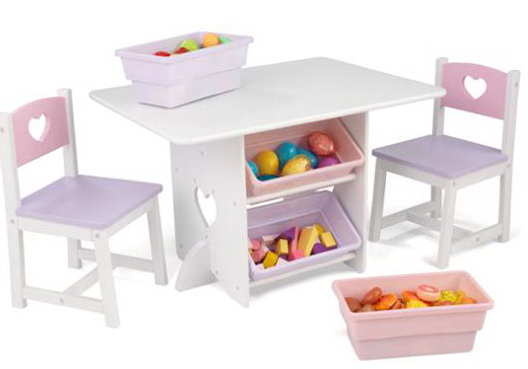 Childrens Table And Chair Set With Storage