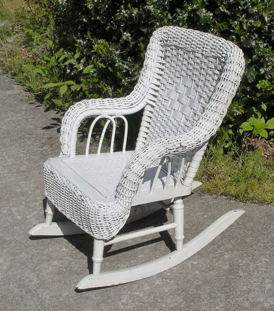 Childrens Wicker Rocking Chair