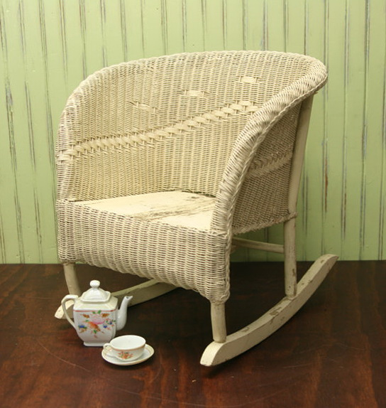 Child's Wicker Rocking Chair