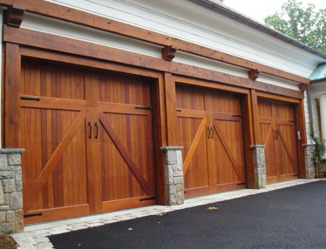 Contemporary Wood Garage Doors