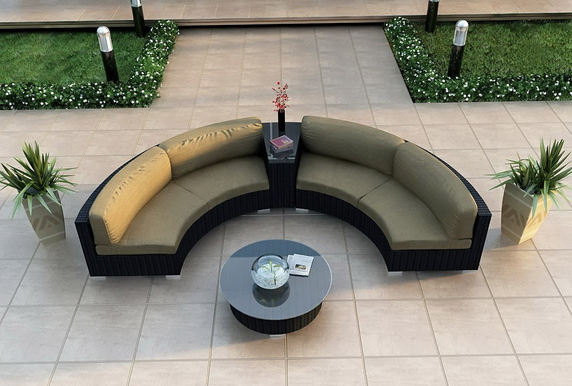 Curved Outdoor Sectional Sofa