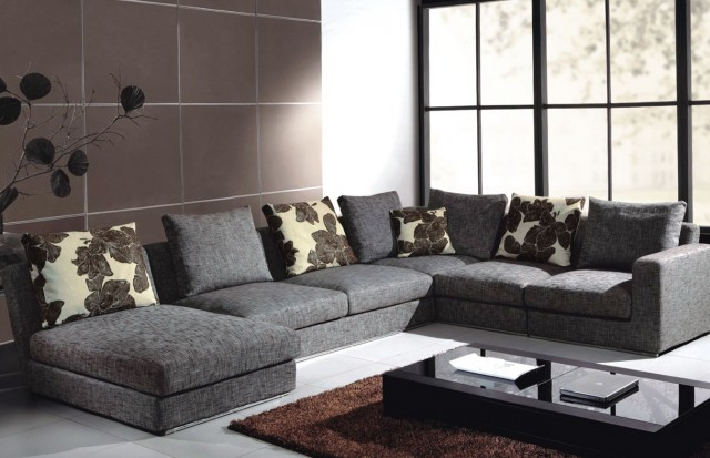 Charcoal Gray Sectional Sofa Sofa 8332 Home Design Ideas
