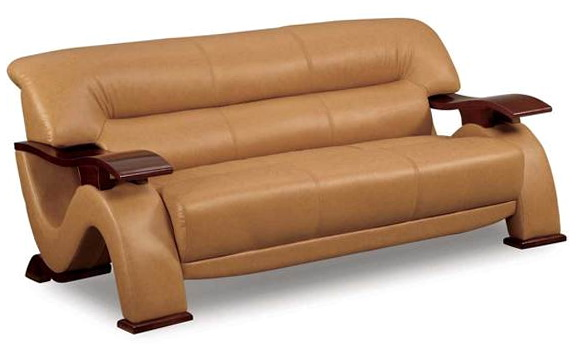 Distressed Leather Sofa And Loveseat