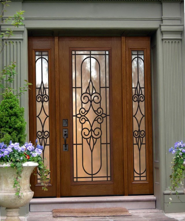 Double Entry Doors With Sidelights