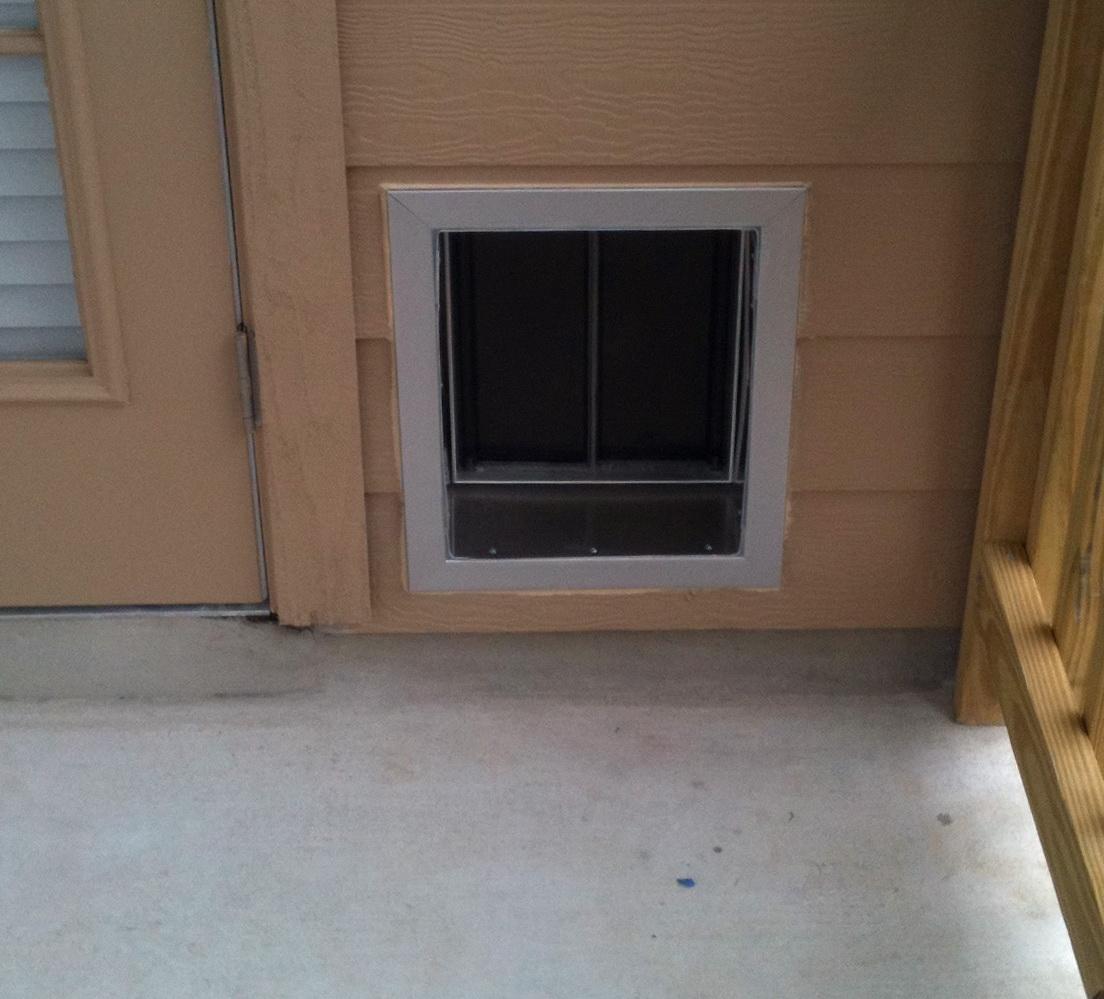 Electronic Dog Door Installation