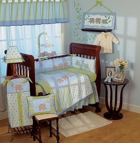 Elephant Crib Bedding For Boys