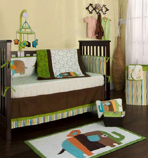 Elephant Crib Bedding Set