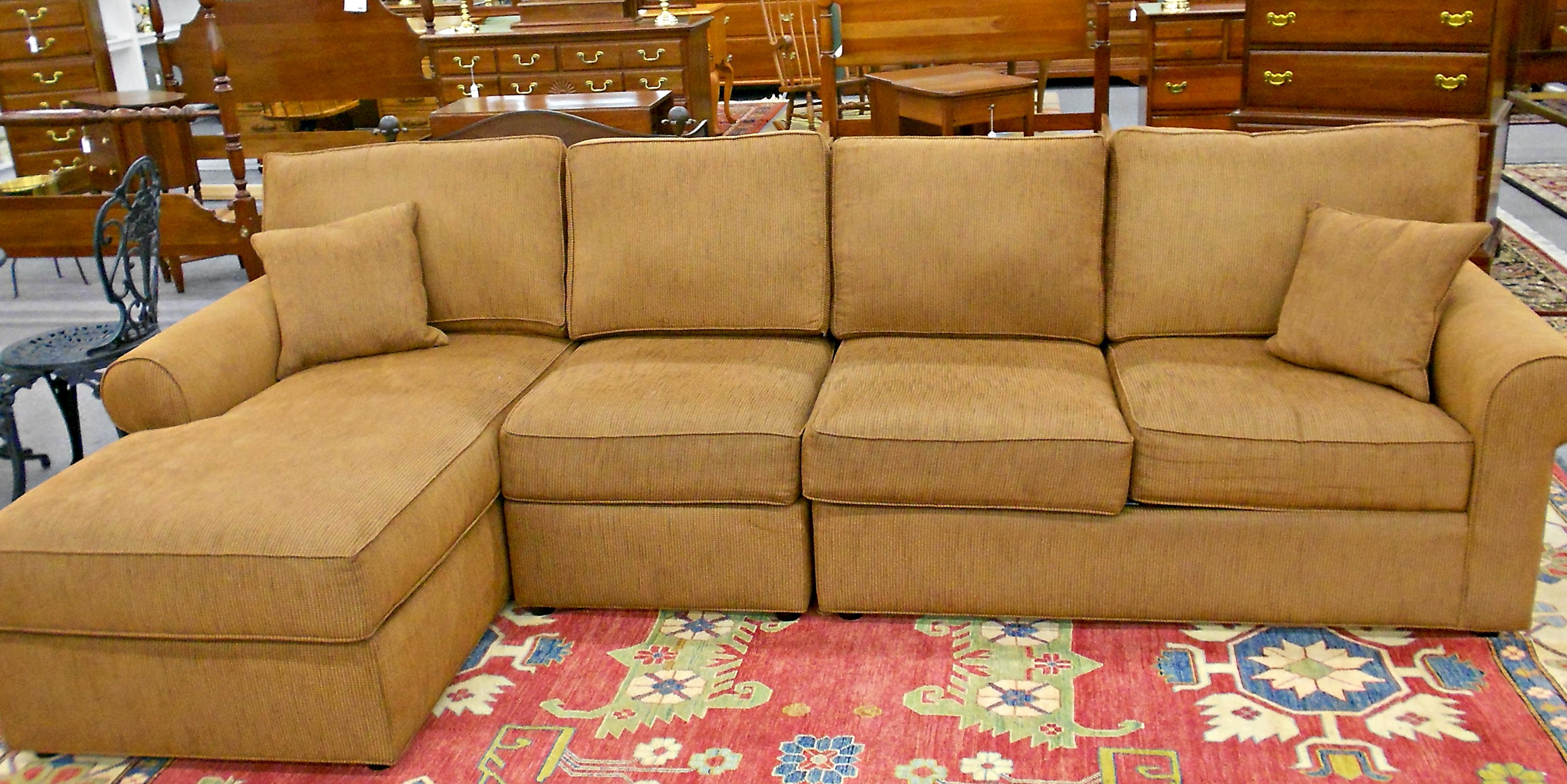 Ethan Allen Sofa With Chaise