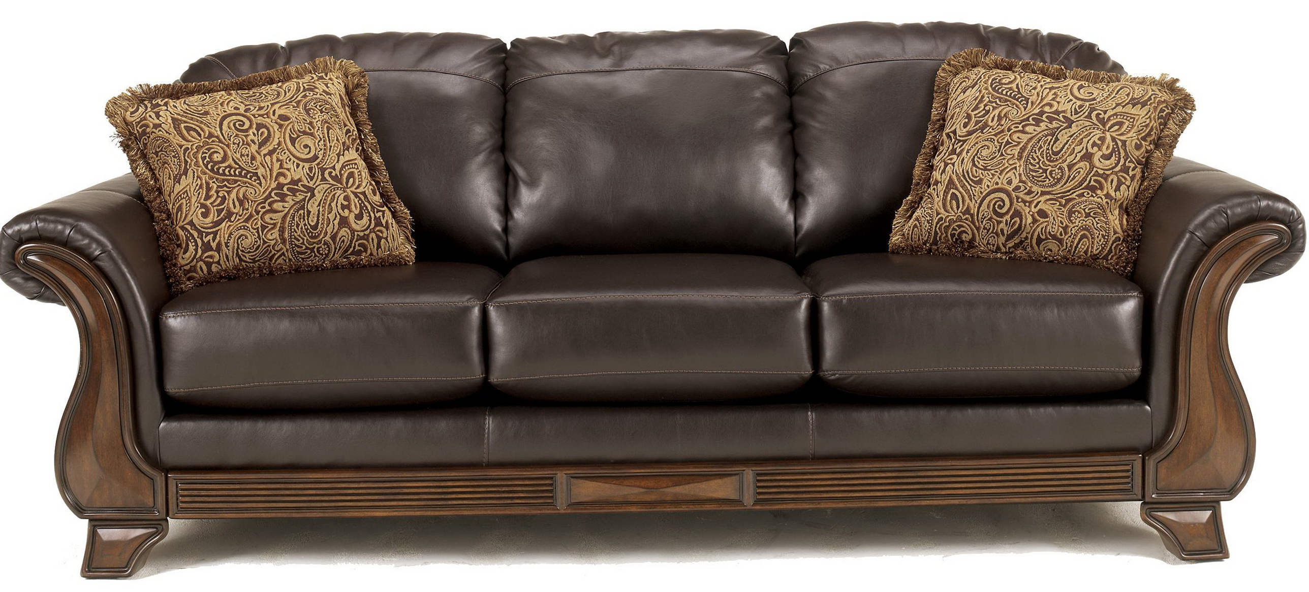 Faux Leather Sleeper Sofa