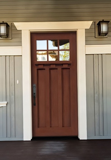 Fiberglass Entry Doors Craftsman Style