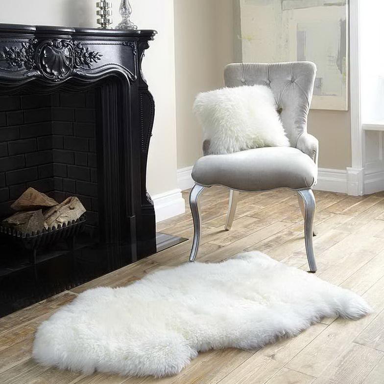 Fluffy White Desk Chair