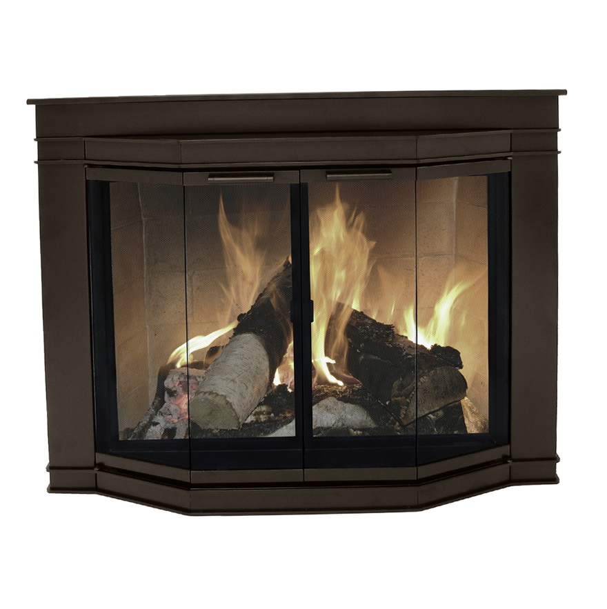 Glass Fireplace Doors Lowes