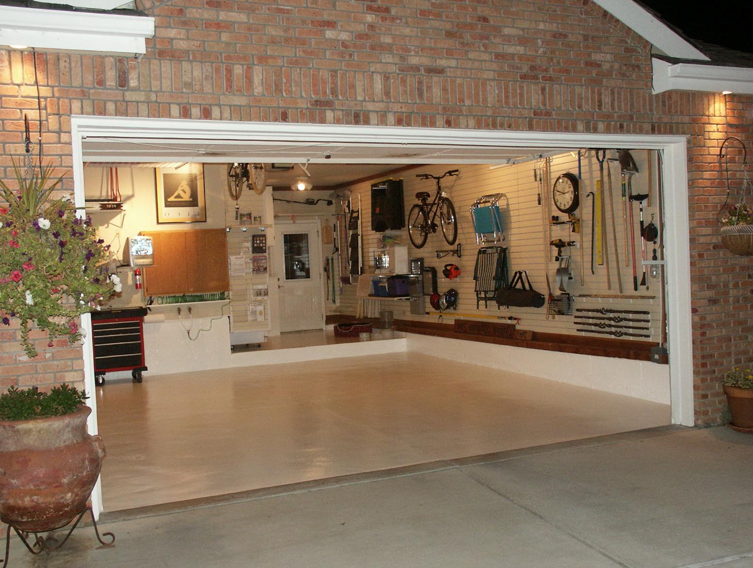 Glass Garage Doors Kitchen