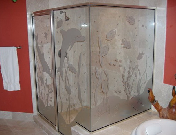 Glass Shower Door Decals