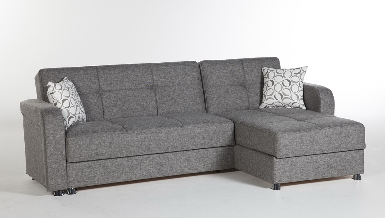 Gray Sectional Sleeper Sofa