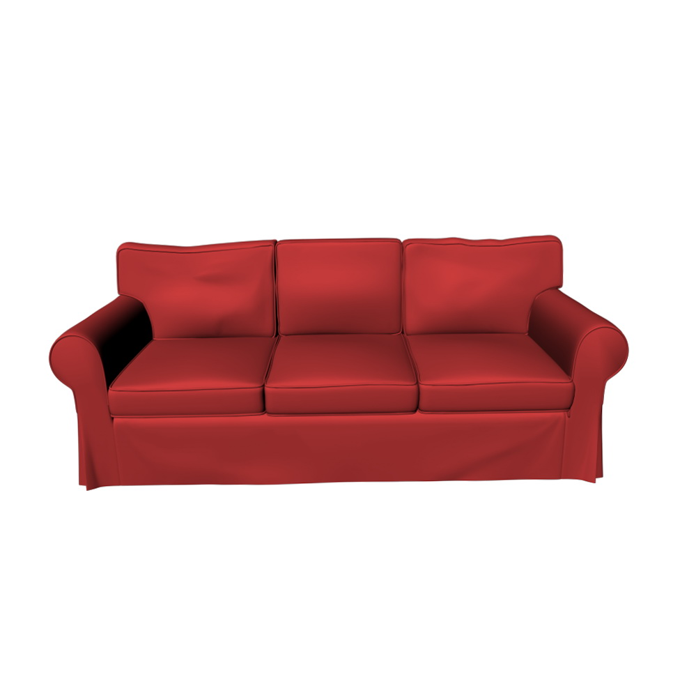 Ikea Ektorp Sofa Red