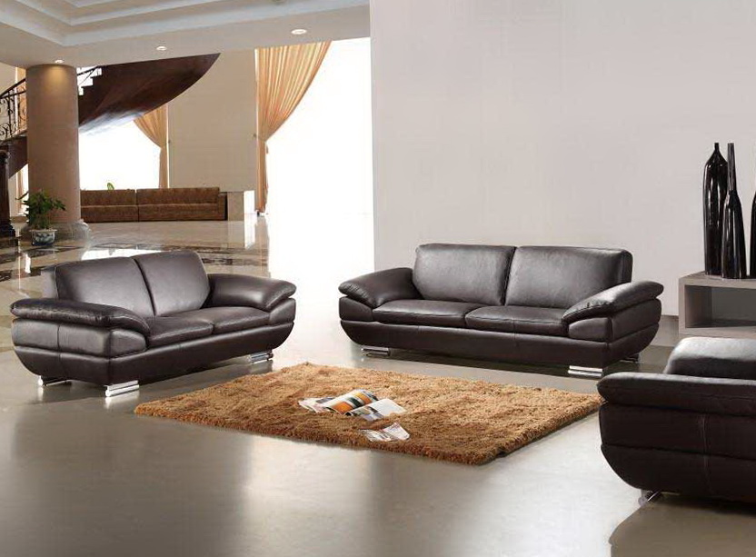 Italian Leather Sofa Set