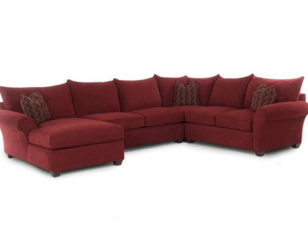 Large Red Sectional Sofa