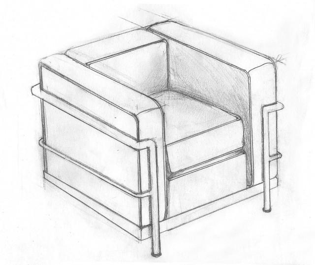Le Corbusier Chair Drawing