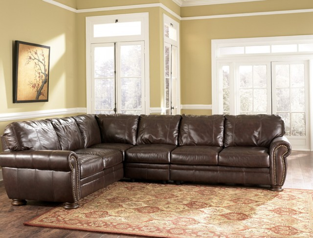 Leather Sectional Sofa Traditional