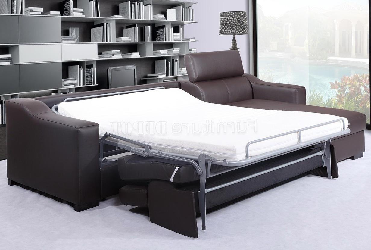 Leather Sleeper Sofa Sectional