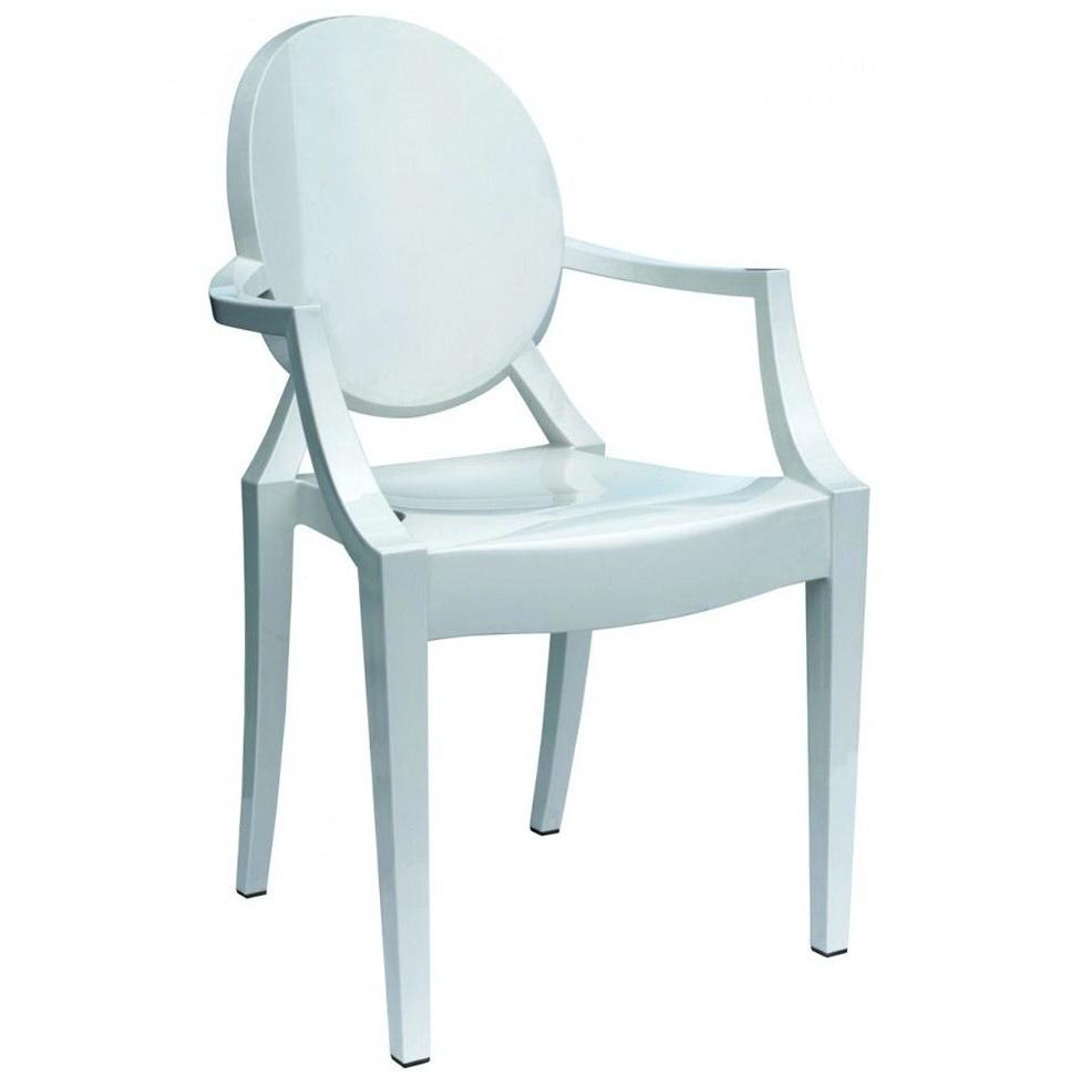 Louis Ghost Chair White