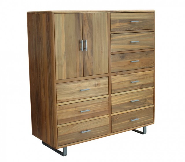 Media Storage Cabinet With Doors