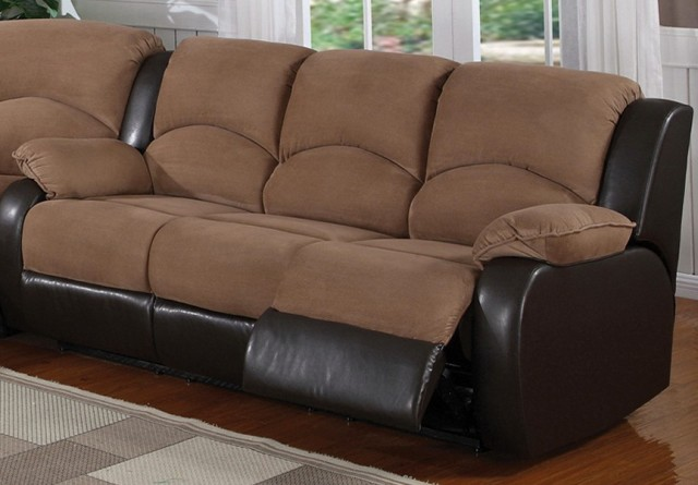 Microfiber Sectional Sofas With Recliners