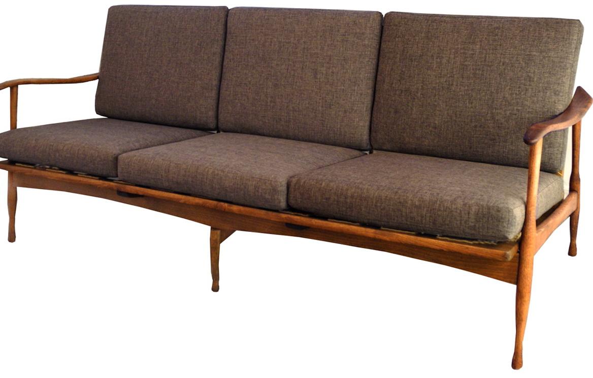 Mid Century Sofa Wood