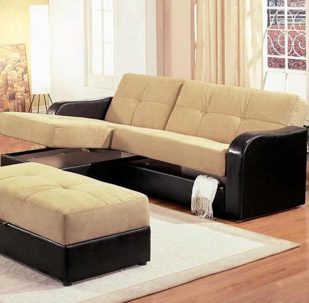 Modern Sleeper Sofa With Chaise