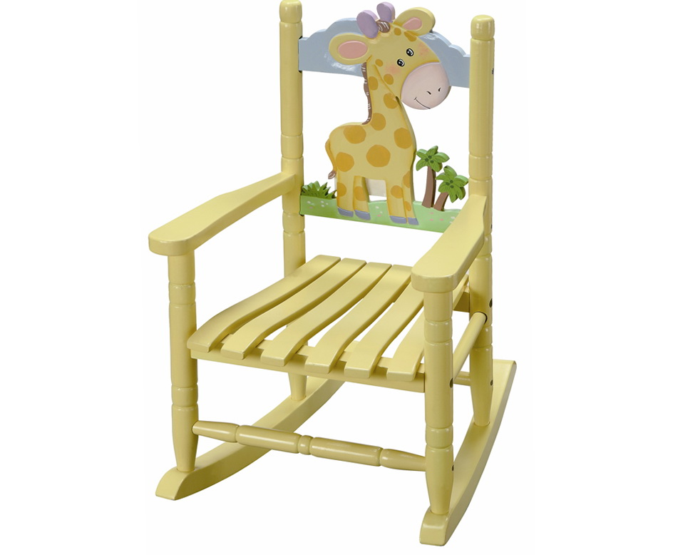 Painted Kids Rocking Chair