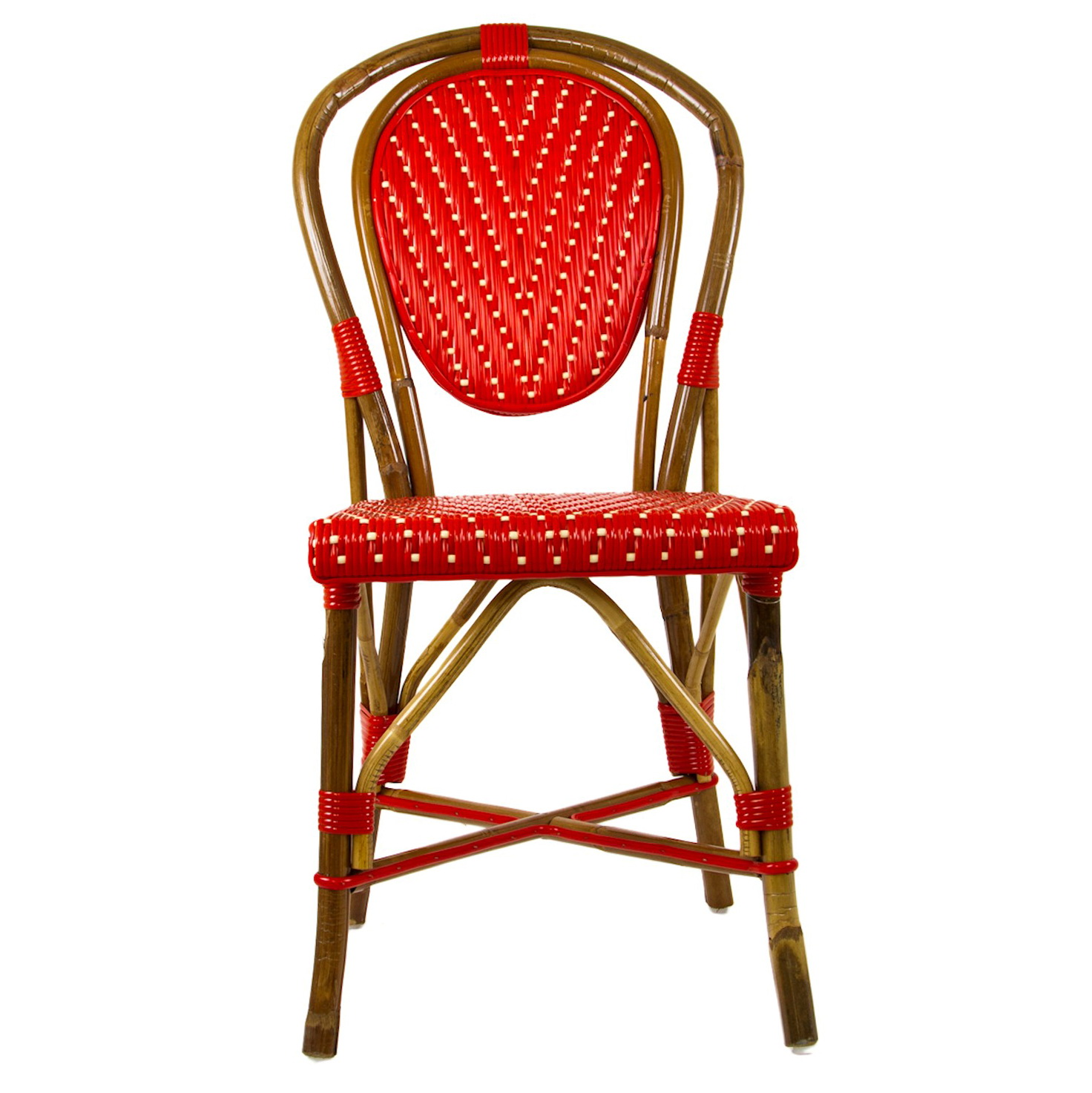 Red French Bistro Chairs