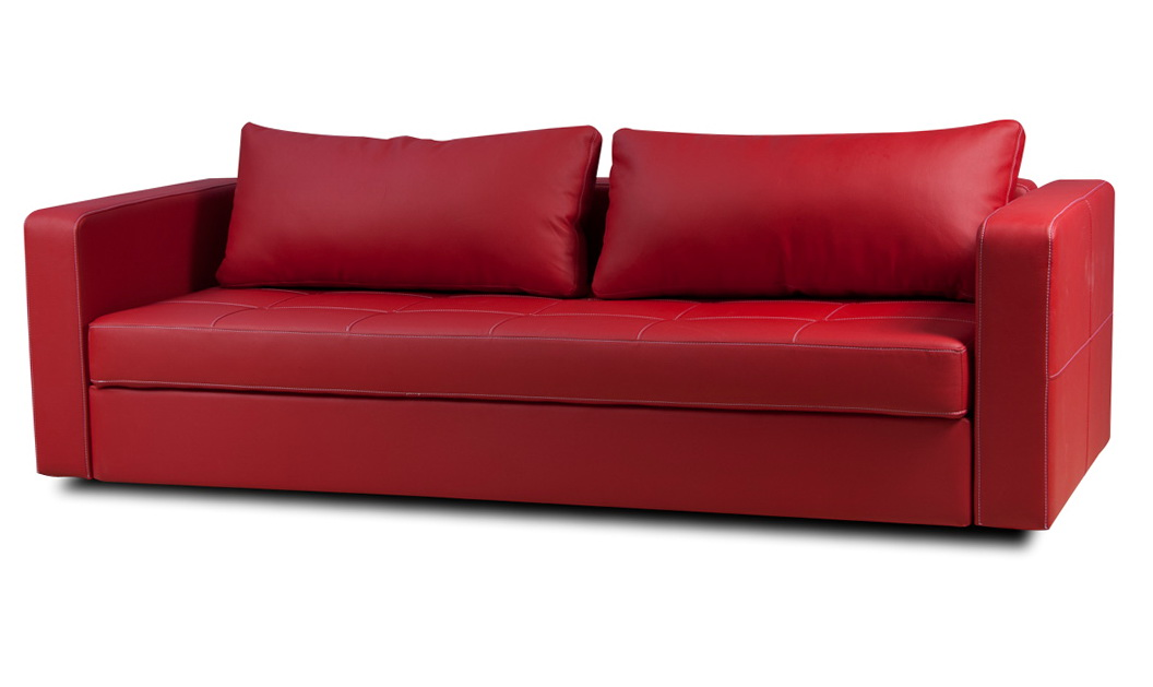 Red Leather Sleeper Sofa