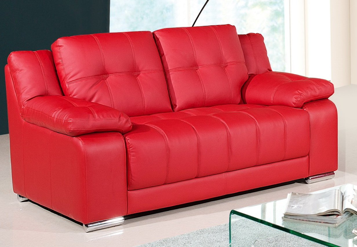 Red Leather Sofa And Loveseat
