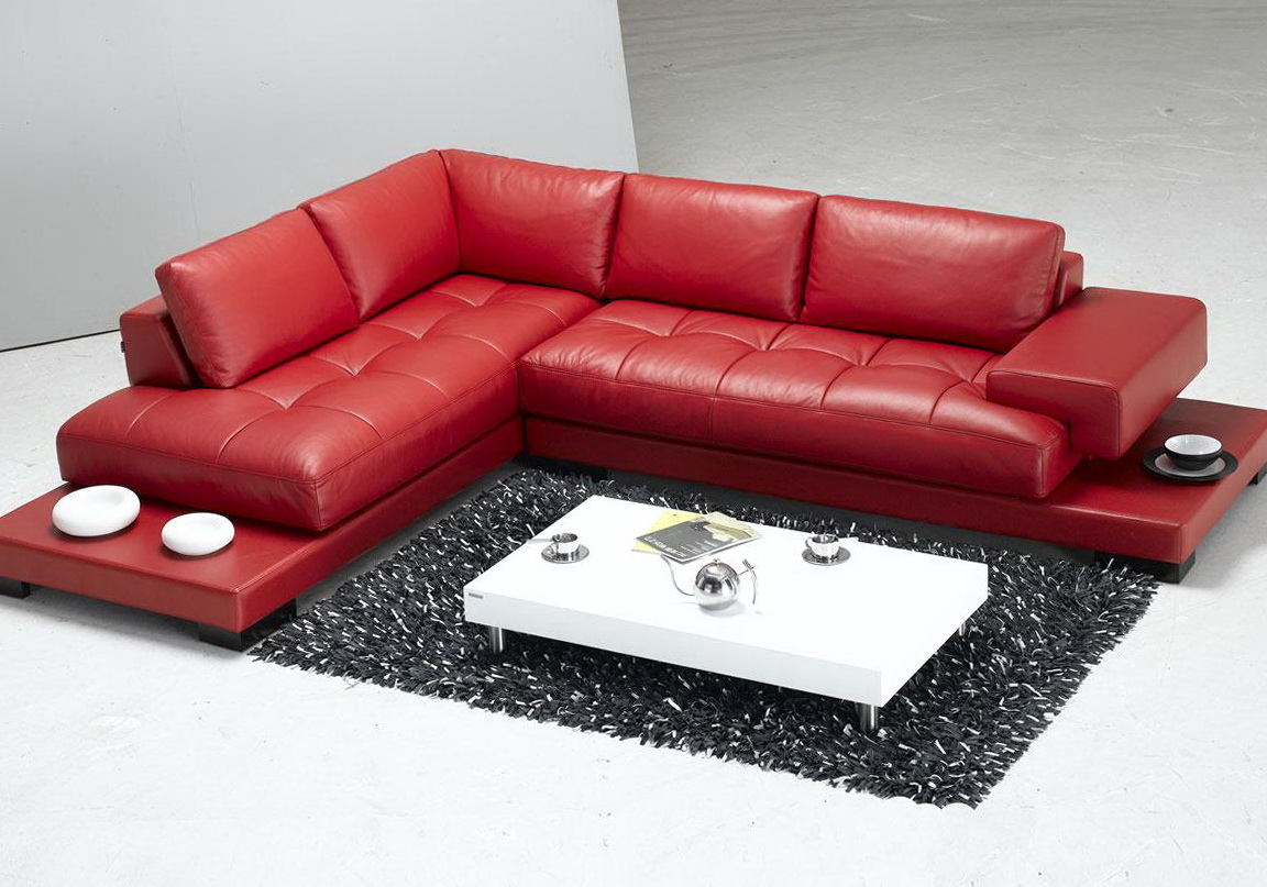 Red Sectional Sofa Decor
