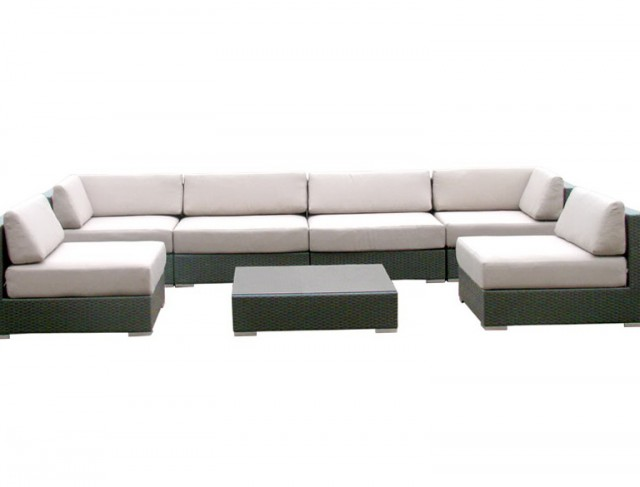 Rushreed 3 Piece Outdoor Sectional Sofa Set