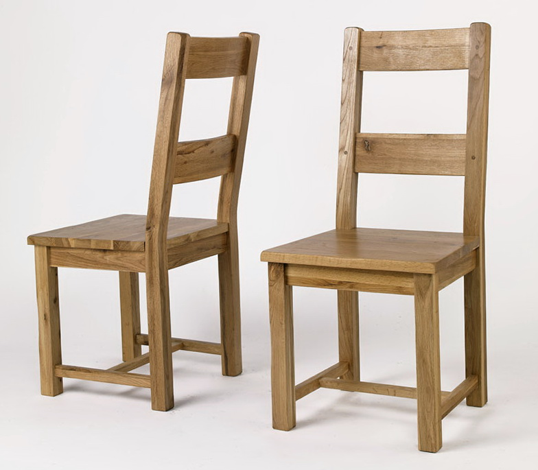 Rustic Oak Dining Chairs