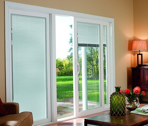 Sliding Glass Door Blinds Inside