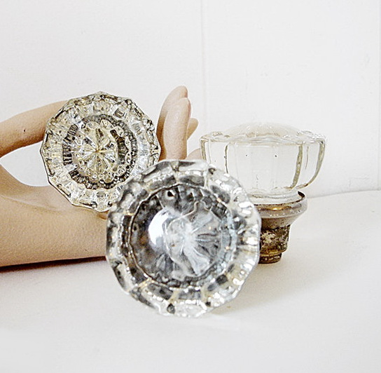 Vintage Crystal Door Knobs