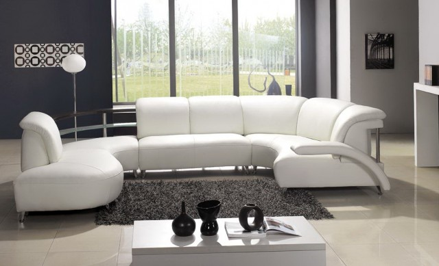 White Leather Sofa Decorating Ideas